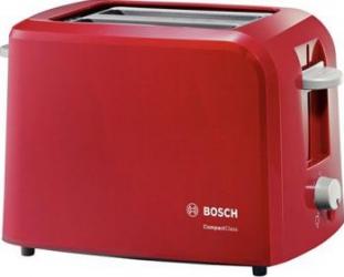 Prajitor de paine Bosch TAT3A014 980W 2 felii Oprire automata Rosu Prajitoare