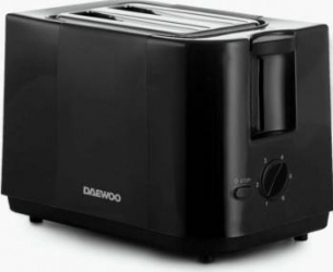 Prajitor de paine Daewoo DBT40 750W 6 niveluri de rumenire Tava frimituri Negru Prajitoare