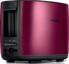 Prajitor de paine Philips HD262800 950 W 2 felii Rosu Burgundy Prajitoare