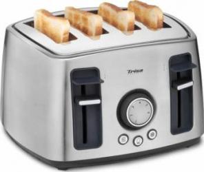 Prajitor de paine Trisa Family Toast 7345 7512 1600 W 4 felii 6 trepte rumenire Argintiu Prajitoare