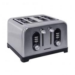 Prajitor de paine Heinner HTP-BK1400XMC 1400W 4 felii 6 nivele de rumenire Inox Prajitoare