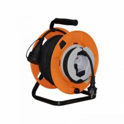 Prelungitor rola 22 m + 3 m tambur 3000W cablu 3x1.5 mm2 exterior IP44