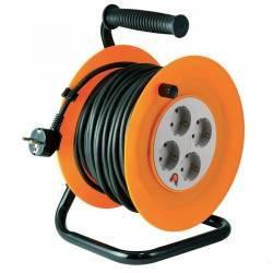 Prelungitor rola tip tambur patru prize cablu 3 x 1 0 mm2 negru IP20