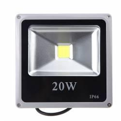 Proiector LED SMD 20W Economic Slim 6500K Lumina Rece 220V de Interior si Exterior Rezistent la Apa IP66 Iluminare pt Ca Corpuri de iluminat