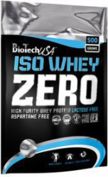 Proteina Iso Whey Zero 500gr Biotech aroma Ciocolata Vitamine si Suplimente nutritive