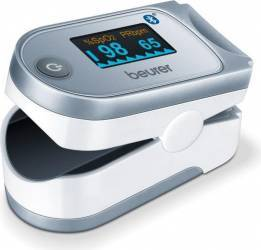 Pulsoximetru Beurer PO60 Bluetooth Spatiu de memorare pentru 100 de masurari Pulsoximetre