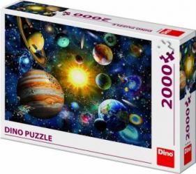 Puzzle Dino Toys Sistemul Solar 2000 piese Multicolor Puzzle