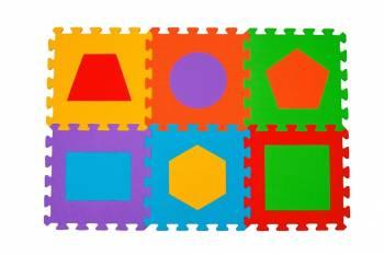 Puzzle pentru podea copii - 6 buc.- figuri geometrice Babyono 279