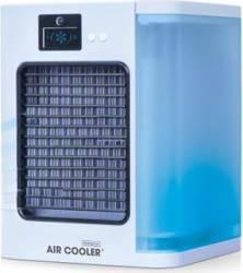 Racitor de aer mobil MediaShop Livington Air Cooler Filtru pentru praf Rezervor de apa Display LCD Alb Resigilat Ventilatoare