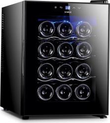 Racitor vinuri Samus SRV36CRA 12 sticle 10 - 18 C Negru Frigidere Combine Frigorifice