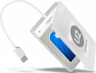 Rack extern Axagon ADSA-1S USB 2.0 2.5 inch SATA HDD-SSD White