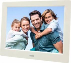 Rama foto digitala MW-087DPF LCD de 8 inch cu telecomanda alb
