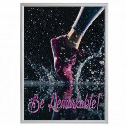 Rama click Premium format 500x700mm din aluminiu pentru expunere postere afise reclame
