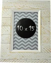 Rama foto agnes 10x15 din lemn texturat culoare alb