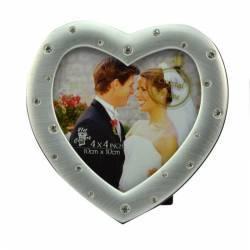Rama foto Love Couple format 10x10 cm Argintiu