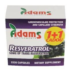 Resveratrol 50mg Adams Vision 30cps 1+1gratis