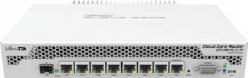 Router MikroTik CCR1009-7G-1C-PC, 1GB RAM, Gigabit LAN, 1 x Combo Ethernet/SFP, PoE In, RS232 Routere