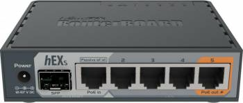 Router MikroTik RB760iGS 1 x USB 1 x SFP 1 x PoE