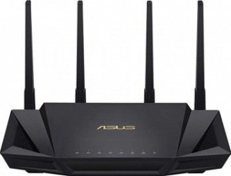 Router Wireless Gigabit ASUS AX3000 RT-AX58U Dual-Band 574 + 2402 Mbps Negru