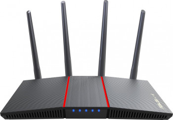 Router wireless ASUS RT-AX55 Dual-Band 574 + 1201 Mbps Negru
