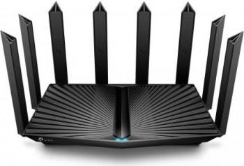 Router Wireless Gigabit TP-LINK Archer AX90 AX6600 3x LAN 2 x WAN Negru