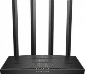 Router wireless TP-Link Archer C6U AC1200 Gigabit Dual-Band Negru Wireless