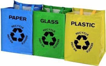 Sacose pentru reciclarea deseurilor menajere capacitate 53 L 3 bucati DGI4357 Home Smart