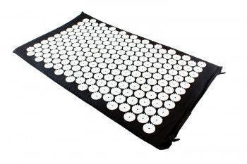Saltea cu acupunctura si masaj ideala pentru dureri de spate relaxare oboseala 73x44 cm culoare negru Accesorii fitness
