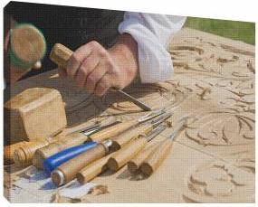 Sculptura in lemn 2 - Tablou canvas - 70x100 cm Tablouri