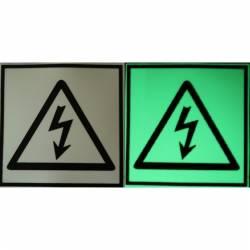 Semn de Avertizare Fosforescent Pericol de Electrocutare Corpuri de iluminat