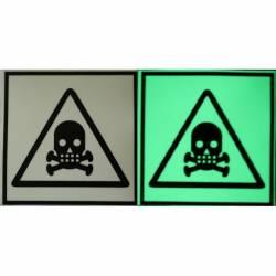 Semn de Avertizare Fosforescent Substante Toxice Corpuri de iluminat