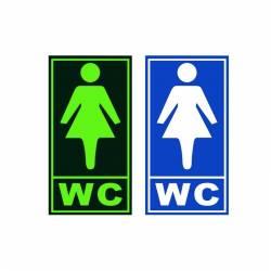 Semn de Informare WC Femei Fosforescent Corpuri de iluminat