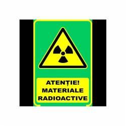 Semn Informativ Fosforescent Pericol Radioactiv Corpuri de iluminat