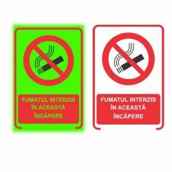 Semn Informativ Fumat Interzis in Incapere Fosforescent 20 x15 cm Corpuri de iluminat