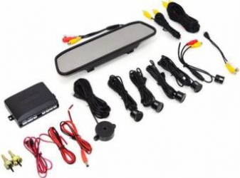 Senzori parcare cu afisaj in oglinda PNI Escort P05A si camera de mers inapoi Alarme auto si Senzori de parcare