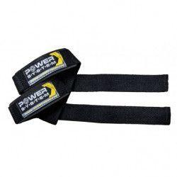 Set 2 curele pentru ridicare greutati Power System PS-3400 POWER STRAPS Negru/Galben Accesorii fitness