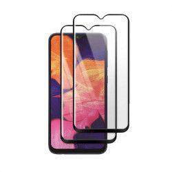 Set 2 folii protectie sticla securizata fullsize pentru Samsung Galaxy A10 SM-105 / M10 SM-M105 negru