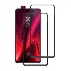 Set 2 folii protectie sticla securizata fullsize pentru Xiaomi Redmi K20 / K20 PRO / Mi 9T / 9T Pro negru