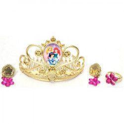Set bijuterii si cercei Dinesy Princess coronita inel si cerc Jucarii