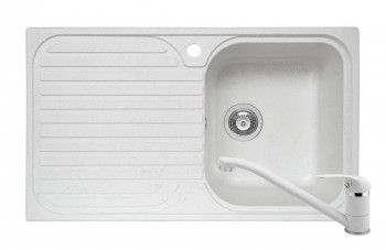 Set Pyramis Stripe DUROTHEK si baterie dimensiune 860x500mm adancime 210mm cuva dreapta soft compozit alb