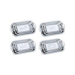 Set tavi pentru servit Peterhof 3 piese Inox Argintiu Accesorii bucatarie