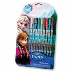 Set 12 pixuri cu gel Frozen Rechizite