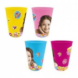 Set 4 pahare plastic color Soy Luna 280 ml Cani, pahare, accesorii masa