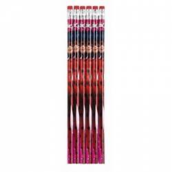 Set 6 creioane cu guma sters Ladybug Rechizite