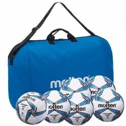 Set 6 mingi fotbal antrenament si competitie Molten PRO geanta inclusa