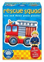 Set 6 puzzle Echipa de salvare 2 si 3 piese RESCUE SQUAD Jucarii