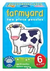 Set 6 puzzle Ferma 2 piese FARMYARD Jucarii