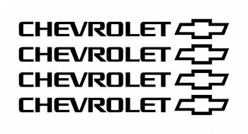 Set stickere manere Chevrolet sticker decorativ culoare neagra Huse si Accesorii