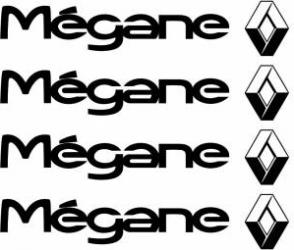 Set stickere manere Megane sticker decorativ culoare neagra Huse si Accesorii