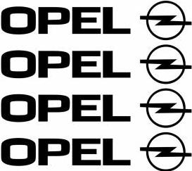 Set stickere manere Opel sticker decorativ culoare neagra Huse si Accesorii